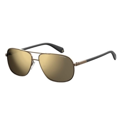 Picture of Polaroid Sunglasses - Brown with Grey Gold Mirror Lens