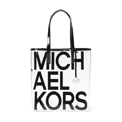 Picture of Michael Kors The Michael Bag Large N/S Clear Tote - Black