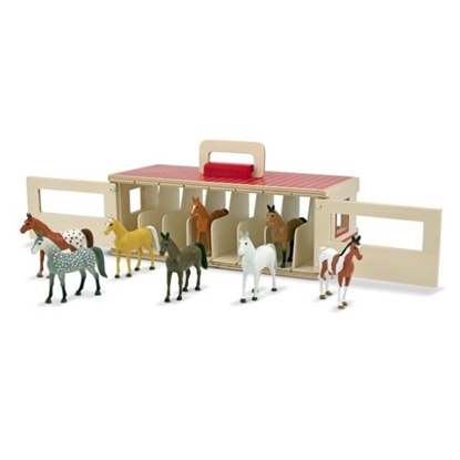 Picture of Melissa & Doug® Take-Along Show-Horse Stable