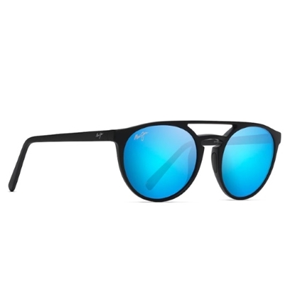 Picture of Maui Jim Ah Dang! - Matte Black with Blue Hawaii Lens