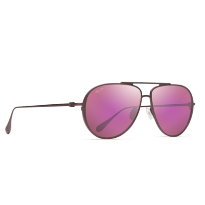Picture of Maui Jim Shallows - Matte Burgundy with Maui Sunrise Lens