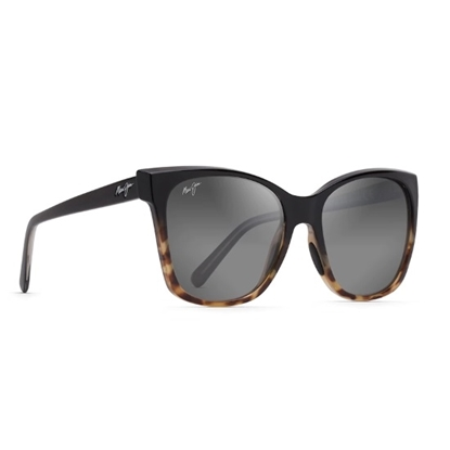 Picture of Maui Jim Alekona - Black/Tokyo Tortoise with Grey Lens