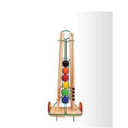 Picture of Kettler Londero 6-Player Outdoor Croquet Game Set with Trolley