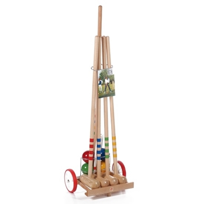 Picture of Kettler Londero 4-Player Outdoor Croquet Game Set with Trolley