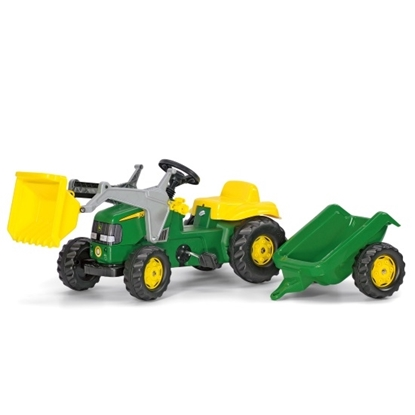 Picture of John Deere Kid's Pedal Tractor with Front Loader & Trailer