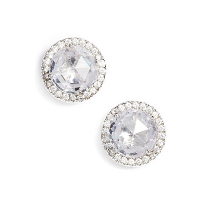 Picture of Kate Spade Bright Ideas Pave Halo Studs - Clear/Silver