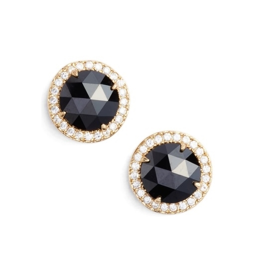 Picture of Kate Spade Bright Ideas Pave Halo Studs - Jet