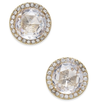 Picture of Kate Spade Bright Ideas Pave Halo Studs - Clear/Gold