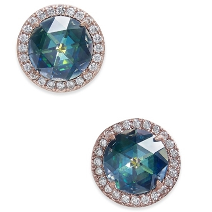 Picture of Kate Spade Bright Ideas Pave Halo Studs - Navy