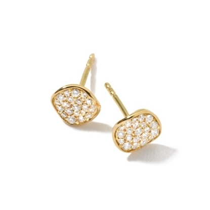 Picture of Ippolita 18K Stardust Mini Flower Stud Earrings with Diamonds