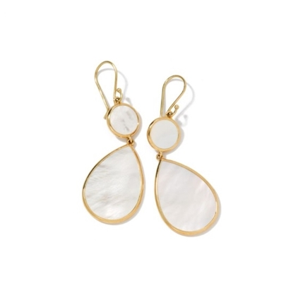 Picture of Ippolita 18K Rock Candy Double Drop Earrings - Mother-of-Pearl