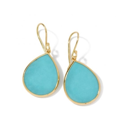 Picture of Ippolita 18K Rock Candy Mini Teardrop Earrings - Turqoise