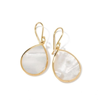 Picture of Ippolita 18K Rock Candy Mini Teardrop Earring- Mother-of-Pearl