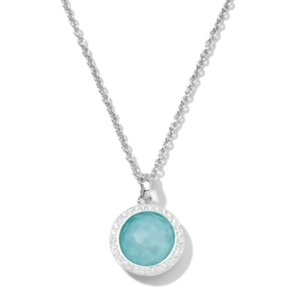 Picture of Ippolita Lollipop Turqoise Pendant Necklace with Diamonds
