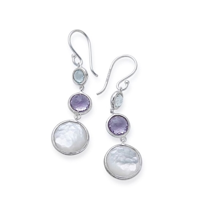 Picture of Ippolita Lollipop Lollitini 3-Stone Drop Earrings