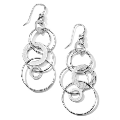 Picture of Ippolita Classico Hammered Jet Set Earrings