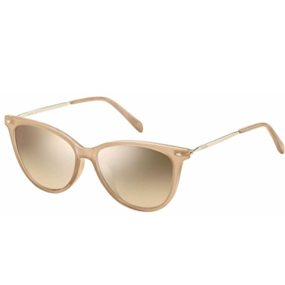 Picture of Fossil Sunglasses with Pink Frame & Brown Mirror Gradient Lens