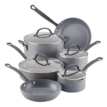Picture of Farberware Quartz 10-Piece Cookware Set - Grey Speckle