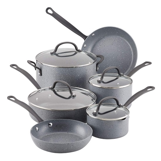 Picture of Farberware Quartz 10-Piece Cookware Set - Grey Speckle