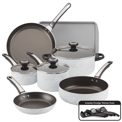 Picture of Farberware High Performance Marble 16-Piece Cookware Set