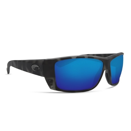 Picture of Costa Cat Cay - Matte Tiger Shark with Blue Mirror Lens