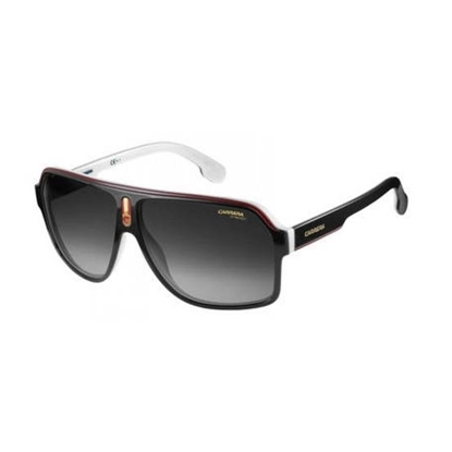 Picture of Carrera Aviators - Black/White with Dark Gray Gradient Lens