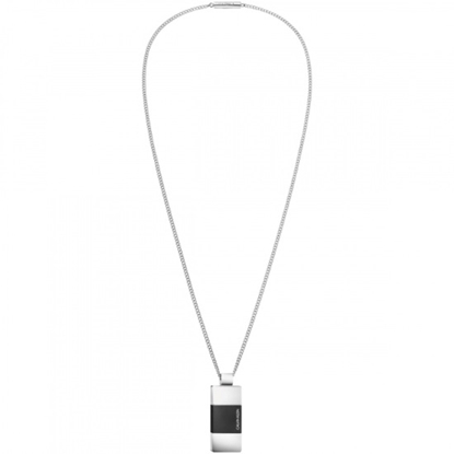 Picture of Calvin Klein Men's Strong Steel & Black PVD Necklace