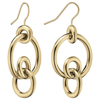 Picture of Calvin Klein Clink Champagne Gold PVD Earrings