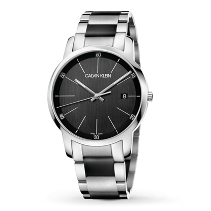 Picture of Calvin Klein City 43mm Stainless Steel Watch with Black Dial