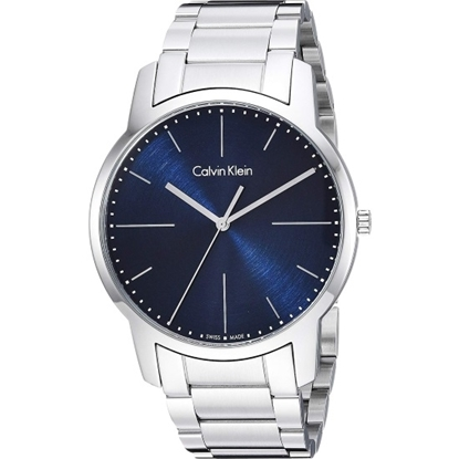 Picture of Calvin Klein City 43mm Stainless Steel Watch with Blue Dial