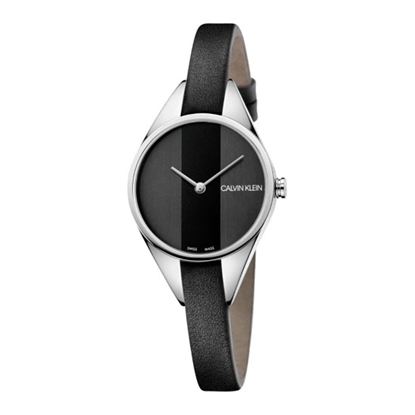 Picture of Calvin Klein Ladies' Rebel 29mm Black Leather Watch
