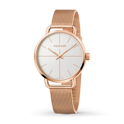 Picture of Calvin Klein Even 42mm Rose Gold-Tone Mesh Watch
