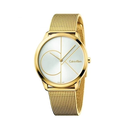 Picture of Calvin Klein Minimal Yellow-Tone Mesh Bracelet Watch