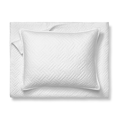 Picture of Boll & Branch Organic Full/Queen Heritage Quilt Set - White