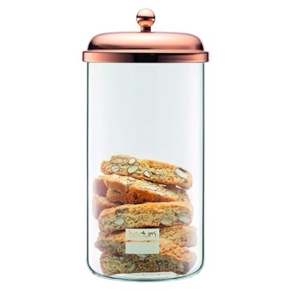 Picture of Bodum 2.0L Glass Storage Jar - Copper