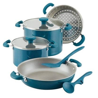 Picture of Rachael Ray Create Delicious 8PC Enamel Stackable Set