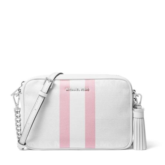 Picture of Michael Kors Medium Striped Camera Bag