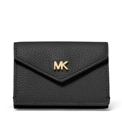 Picture of Michael Kors Small Trifold Flip Wallet - Black