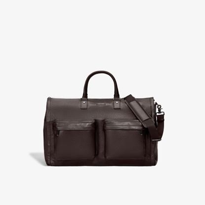 Picture of Hook & Albert Leather Garment Weekender - Espresso Brown