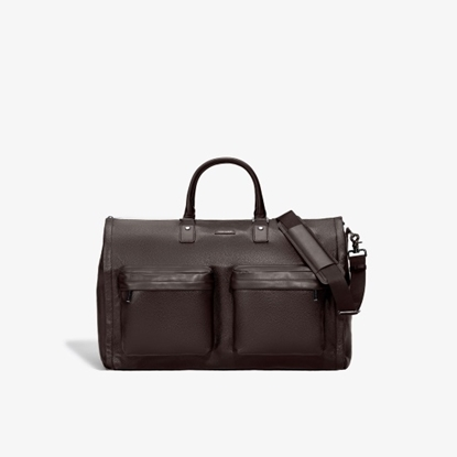 Picture of Hook & Albert Leather Garment Weekender - Espresso Brown