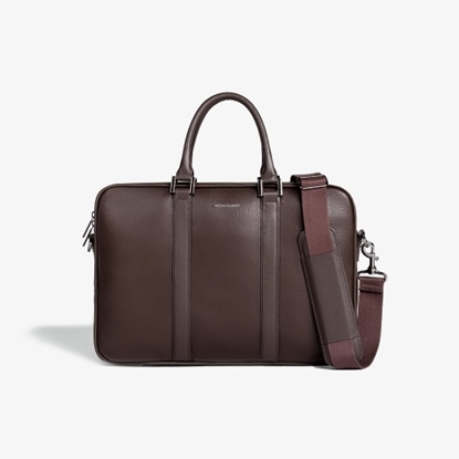 Picture of Hook & Albert Leather Formal Briefcase - Espresso Brown