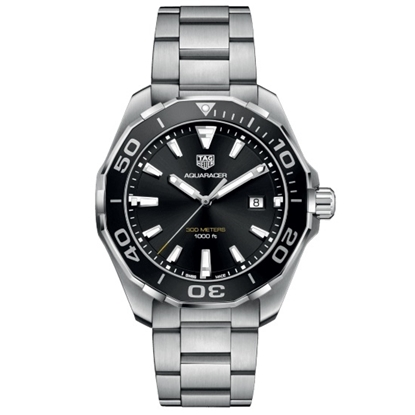 Picture of TAG Heuer Aquaracer Quartz Steel Watch with Black Dial