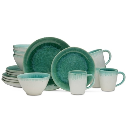 Picture of Mikasa Aventura Green 16-Piece Dinnerware Set