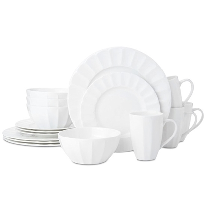 Picture of Mikasa Bonaire 16-Piece Bone China Dinnerware Set - White