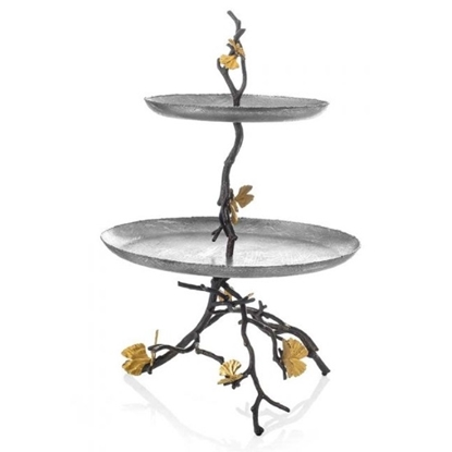 Picture of Michael Aram Butterfly Ginkgo 2-Tier Etagere