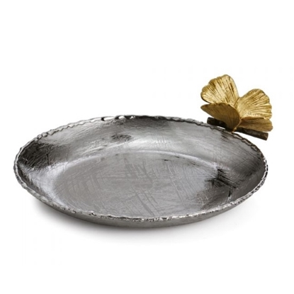 Picture of Michael Aram Butterfly Ginkgo Round Trinket Tray