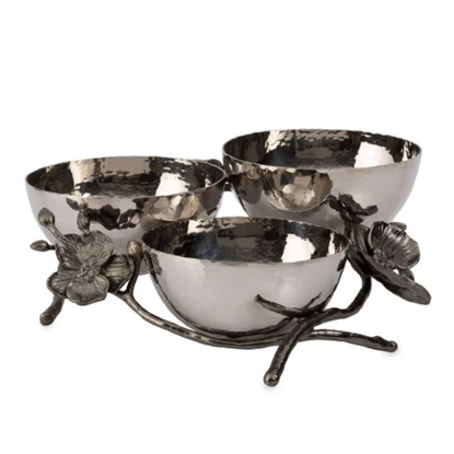 Picture of Michael Aram Black Orchid Triple Nut Dish