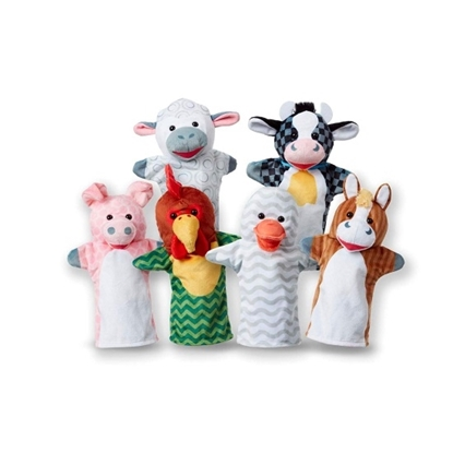 Picture of Melissa & Doug® Barn Buddies Hand Puppets