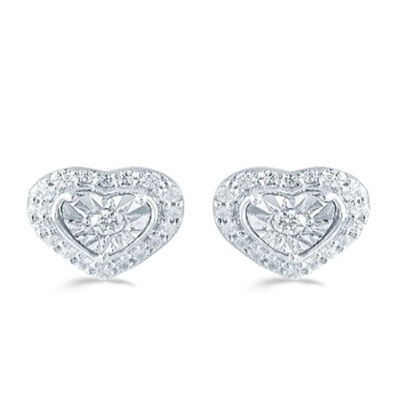 Picture of Lotus Heart Shape 1/4ct. Earrings