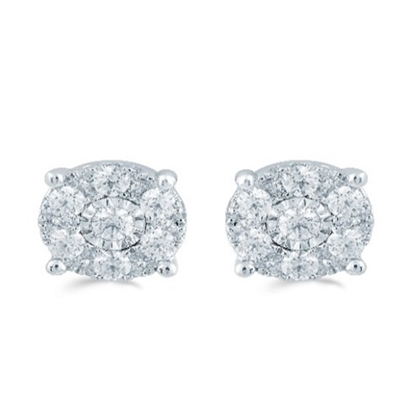 Picture of Lotus Array 1/2ct. Diamond Earrings
